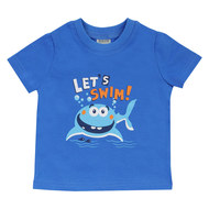 T-Shirt Basic Line - Let´s swim Blau