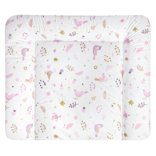 Foil changing mat Softy - Berries and Birds - White Pink