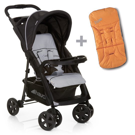 Buggy Shopper Comfortfold inkl. Sitzauflage Orange - Black Silver