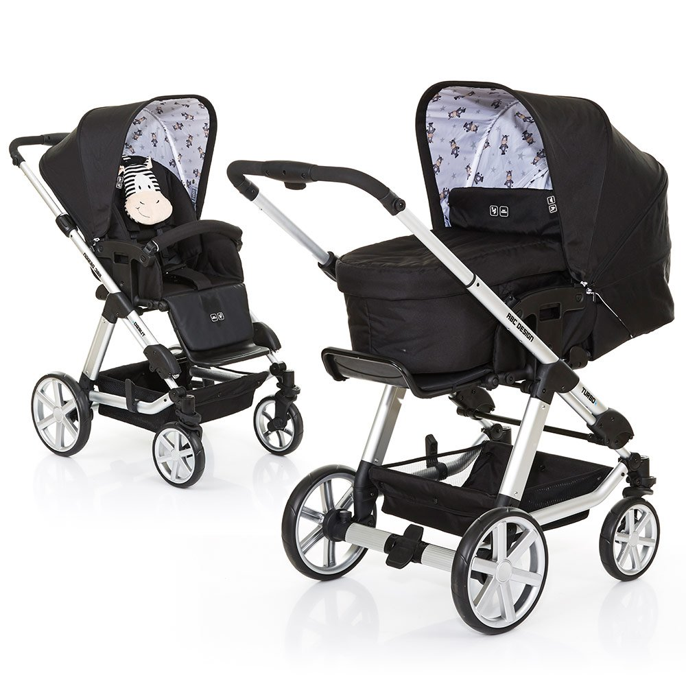 ABC Design Kombi-Kinderwagen Turbo 4 - Zebra 61289 707