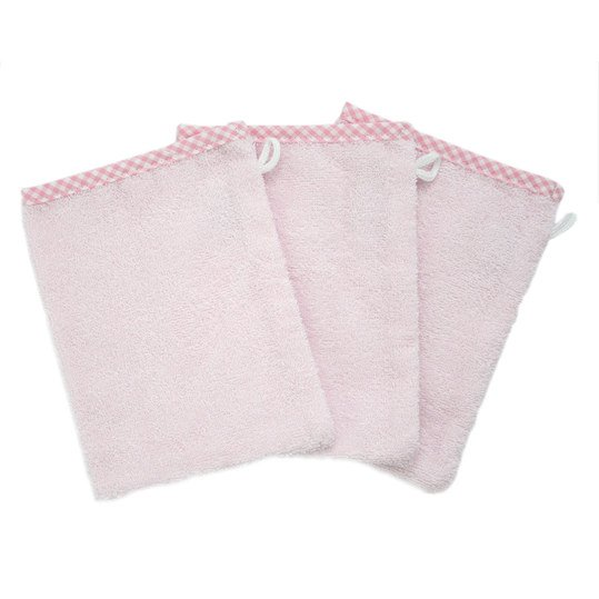 Washcloth 3er Pack - Uni Rosa