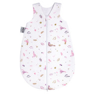 Schlafsack Jersey wattiert - Berries and Birds Rosa - Gr. 74
