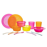 13-tlg. Esslern-Set - Pink Orange