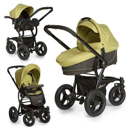 Kinderwagen-Set King Air Plus Trio Set - Melange Green
