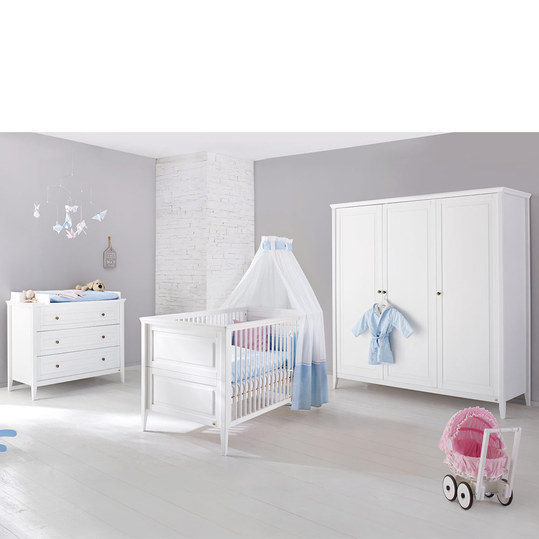 pinolino kinderzimmer smilla mit 3 t rigem schrank. Black Bedroom Furniture Sets. Home Design Ideas