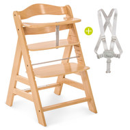 Alpha Plus High Chair - Nature