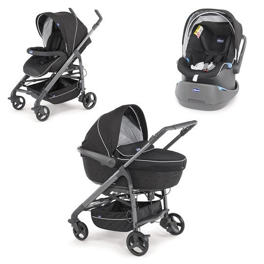 Kinderwagenset Trio-System Love mit Kit Car - Black
