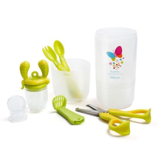 8-tlg. Travel-Set Easy Food Feeder - Lime