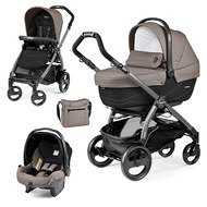 Kinderwagen-Set Book 51 XL Sportivo Modular Gestell Jet Anthrazit - Bloom Beige