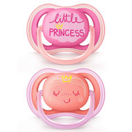Schnuller 2er Pack Ultra Air - Silikon 6-18 M - Little Princess