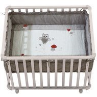 Playpen white incl. insert 75 x 100 cm - Adam & owl
