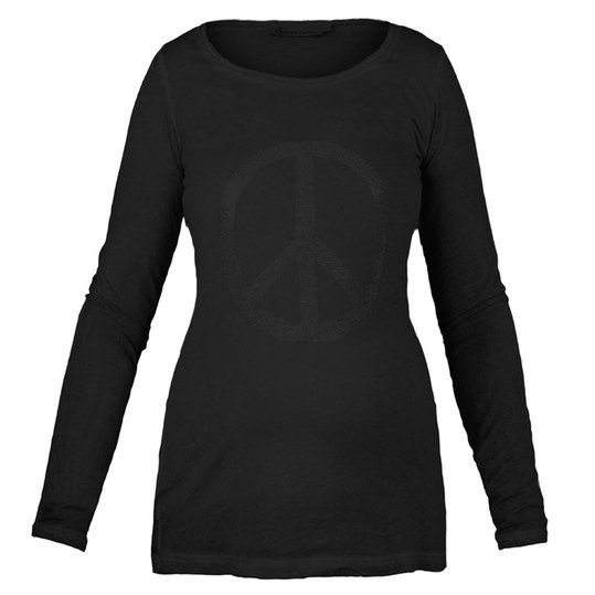 Langarmshirt Peace - Anthrazit - Gr. XL