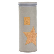 Isoliertasche Casual Bottle Holder Single - Cork Star - Light Grey