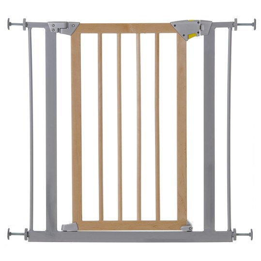 hauck t rschutzgitter deluxe wood metal safety gate 75 81 cm. Black Bedroom Furniture Sets. Home Design Ideas