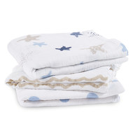Gauze diaper pack of 3 Classic Musy 70 x 70 cm - Rock Star