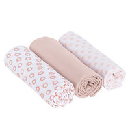 Mulltuch 3er Pack 85 x 85 cm - Little Chums Stars - Light Pink