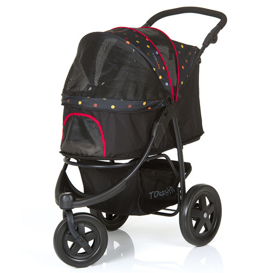 Hauck - Dog Buggy / Dog Trolley Togfit Pet Roadster - Black