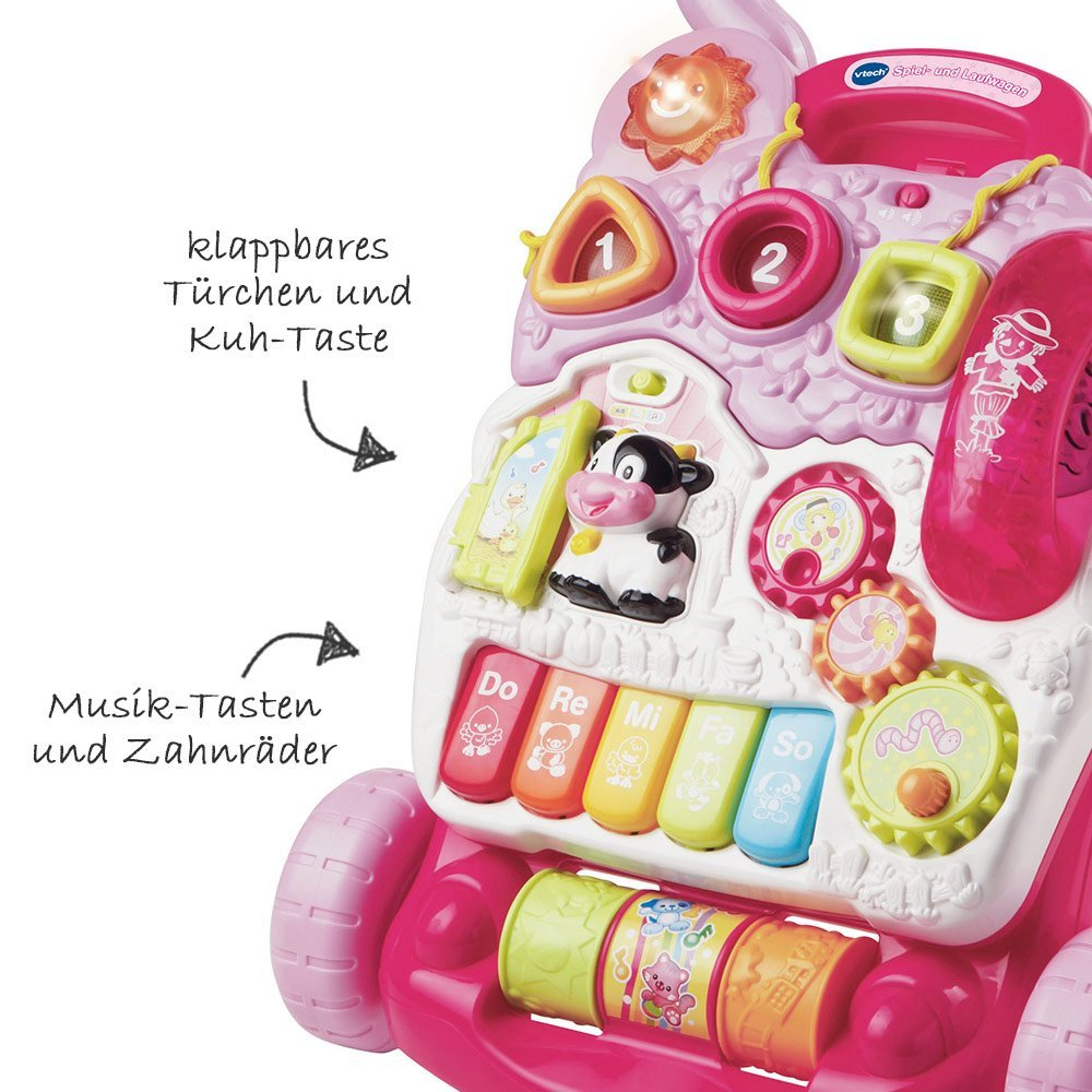 2 in 1 play and carriage - Pink