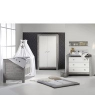 Children's room Nordic Driftwood 15-pcs. with 2-door wardrobe incl. textile collection Star Grey