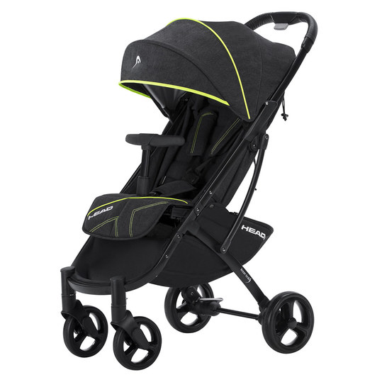 Buggy Head Sport - Darkgrey-Yellow