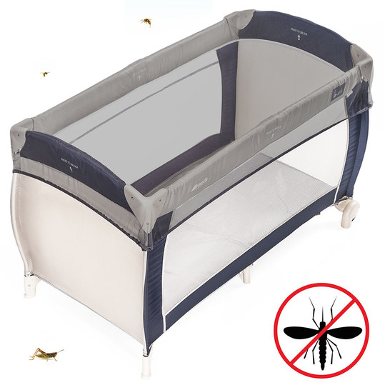 Universal insect screen / mosquito net for baby travel beds - grey
