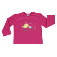 Langarmshirt Basic Line - Love Birds Pink