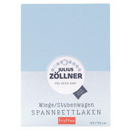 fitted sheet towelling for small mattresses 40 x 90 cm - light blue