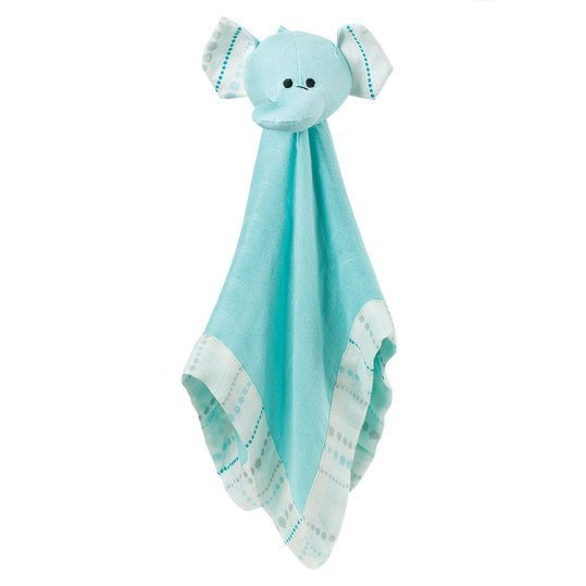 Schmusetuch Bamboo Musty Mate Lovey - Schmusefant Azure