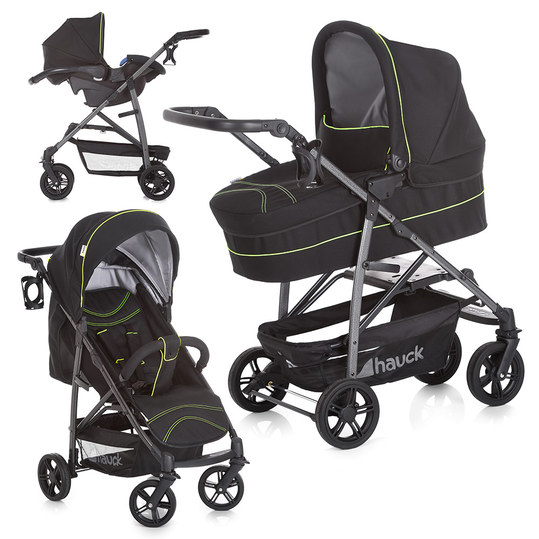 Kinderwagen-Set Rapid 4S Plus Trioset Deluxe - Caviar Neon Yellow
