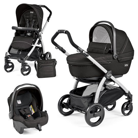 Kinderwagen-Set Book Plus XL Sportivo Modular Gestell Silber - Mod Black