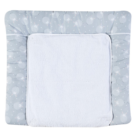 Wrap-around pad with terry cloth cover - Sheep - Grey