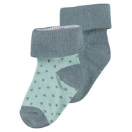 Socken 2er Pack - Dot Grün - Gr. 0 - 3 Monate