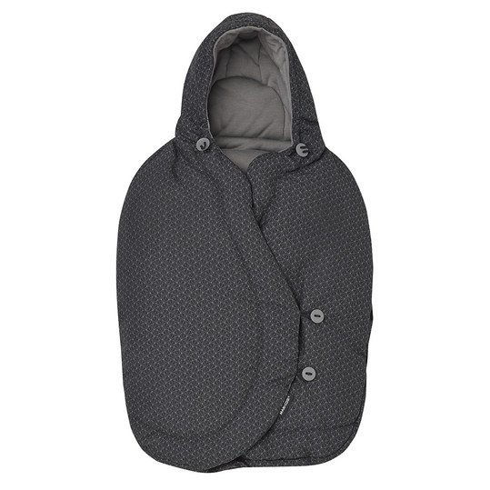 Fußsack für Babyschale Pebble - Black Crystal