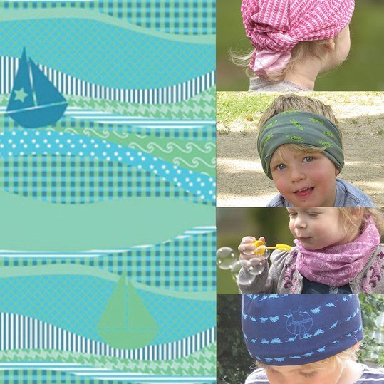 Multifunktionstuch Twister Baby - Sailing Boat