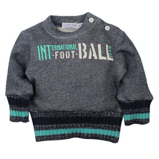Sweatshirt Football - Navy Türkis - Gr. 74