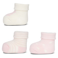 First socks pack of 3 - pink offwhite - size 0 - 4 months