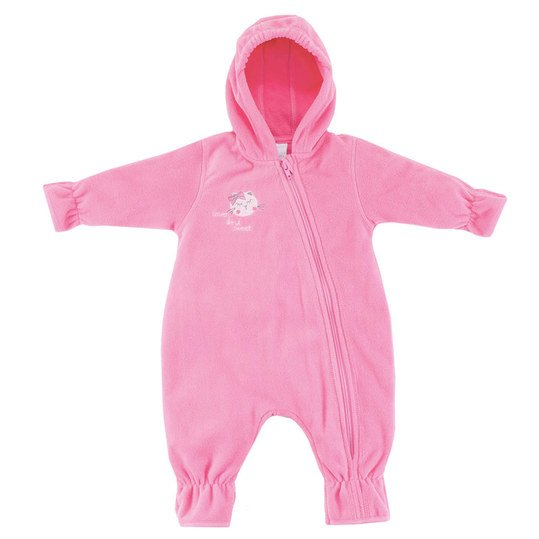 Fleece-Overall mit Kapuze Lovely Cats - Pink - Gr. 68