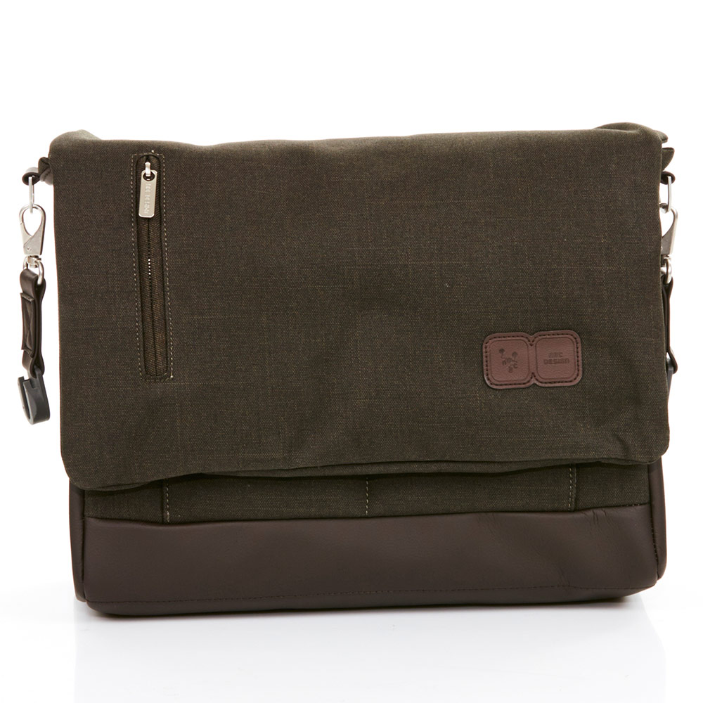 Diaper bag Urban - incl. changing mat and bottle warmer - Leaf