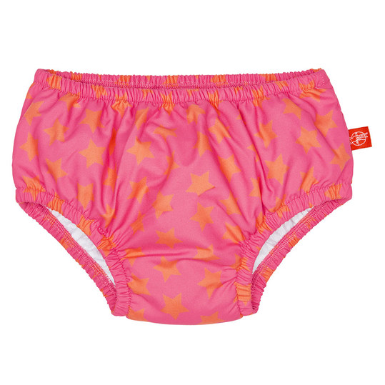 Bade-Windelhose - Peach Stars - Gr. 0 - 6 M