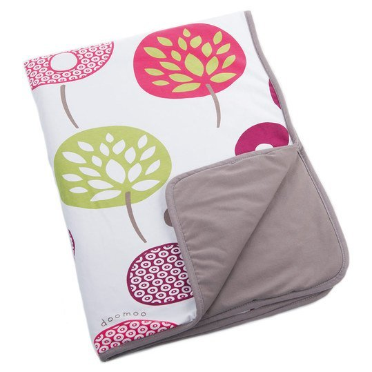 Baumwoll-Decke Doomoo Dream 75 x 100 cm - Tree Berry