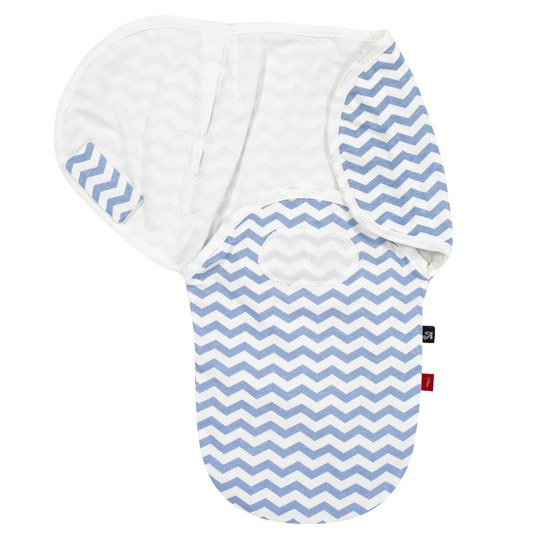 Puck-Wickeltuch Comfort-Swaddle s.Oliver - Chevron - Blau