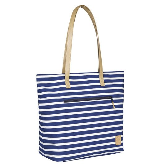 Wickeltasche Casual Tote Bag - Striped - Navy