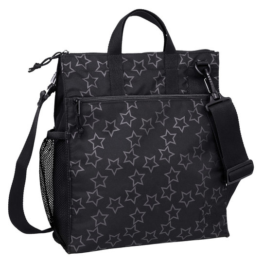 Wickeltasche Casual Buggy Bag - Reflective Star - Black