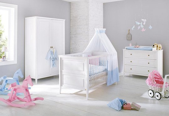 pinolino kinderzimmer smilla mit 2 t rigem schrank kiefer massiv. Black Bedroom Furniture Sets. Home Design Ideas