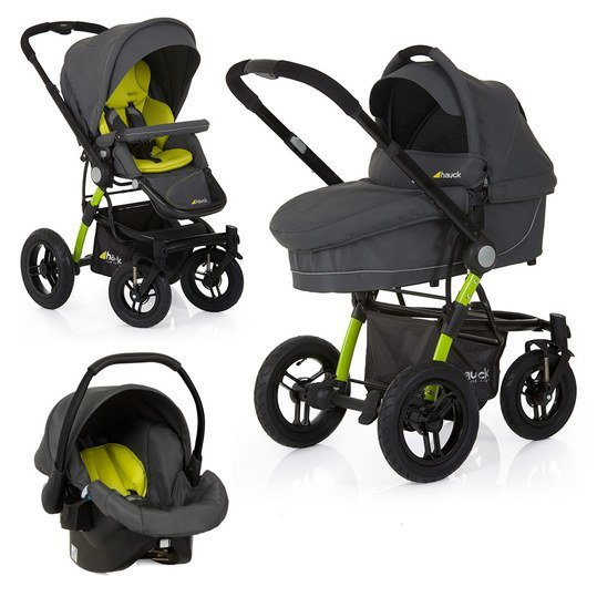 Kinderwagen-Set King Air Trio Set - Lime