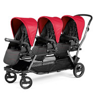 Drillings-Kinderwagen Triplette Piroet - Bloom Red