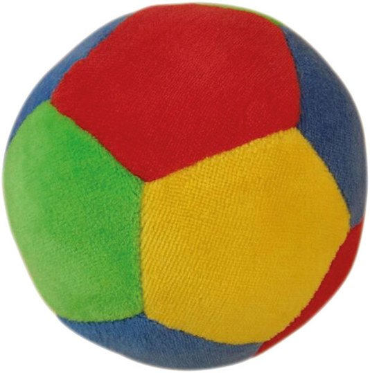 Fabric ball with rattle
