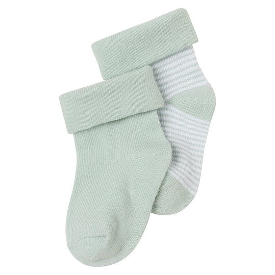 Socken 2er Pack Zoe - Ringel Mint - Gr. 0 - 3 Monate