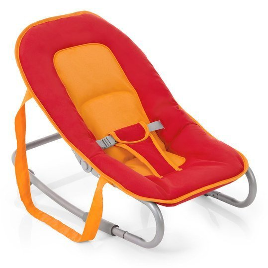 Babywippe Lounger - Red Safran