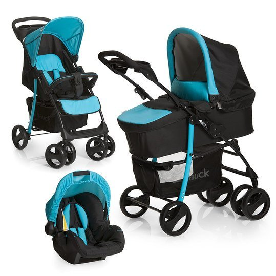 Kinderwagen-Set Shopper SLX Trio Set - Caviar Aqua